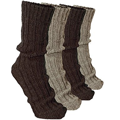 brubaker 4 pairs thick cashmere socks - browns colors - size eu 35-38 xvhayoo