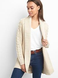 cable knit cardigan cable-knit cardigan ygasaoj