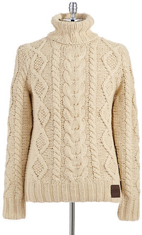 cable knit cardigan ... superdry turtleneck cable knit