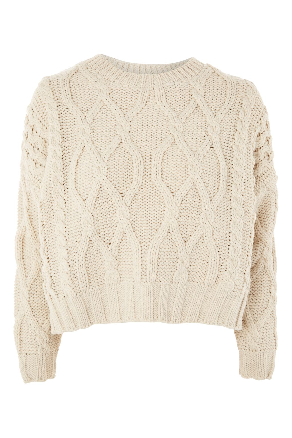 cable knit jumper cropped cable knit sweater - topshop usa ddaprzh