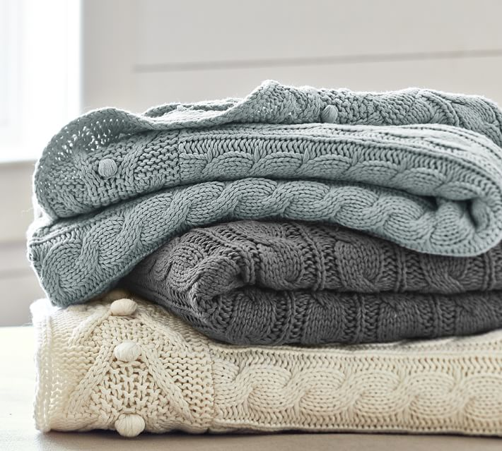 cable knit throw | pottery barn otkfmrn