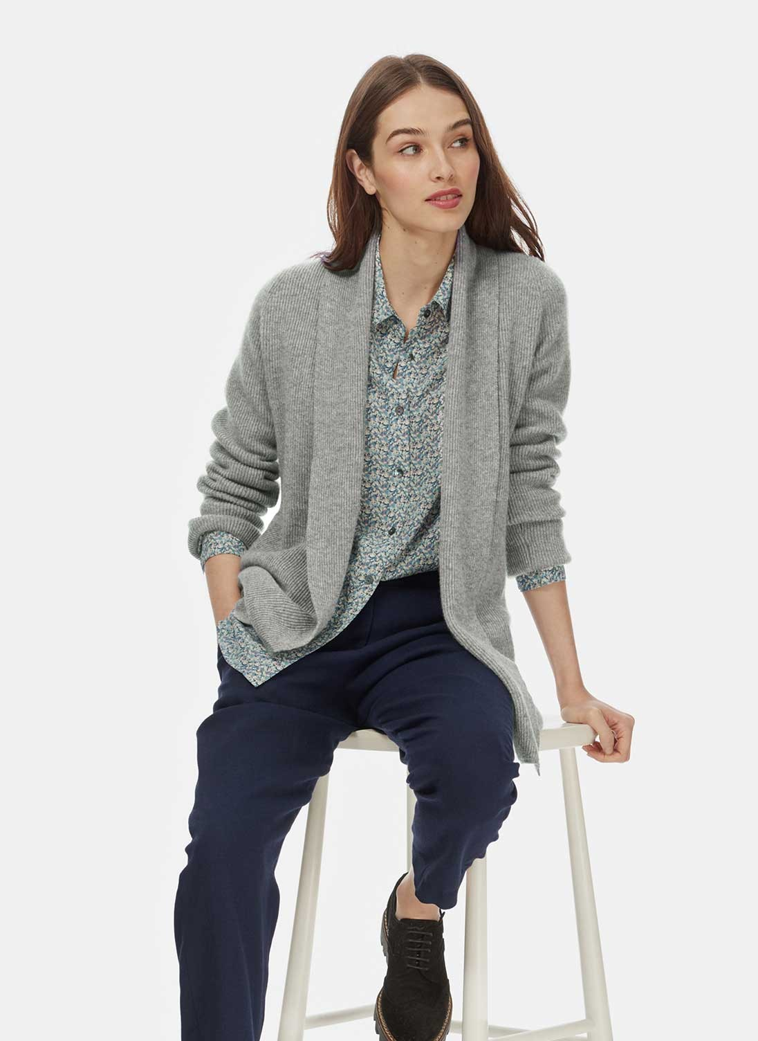 cashmere cardigan cashmere shawl ribbed cardigan bewajns
