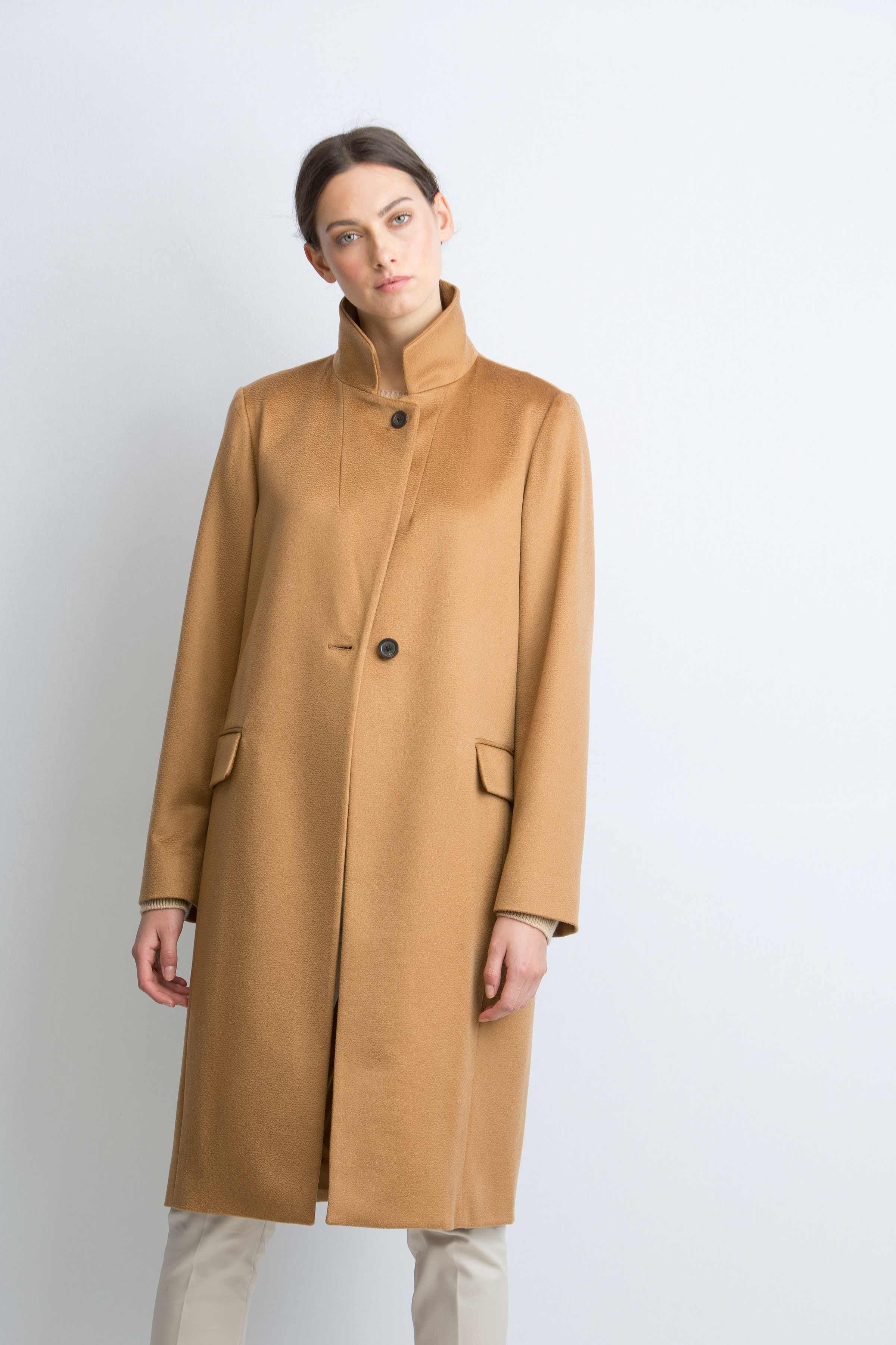 cashmere coat cashmere velour womens dark camel single breast coat | johnstons of elgin jweocbh