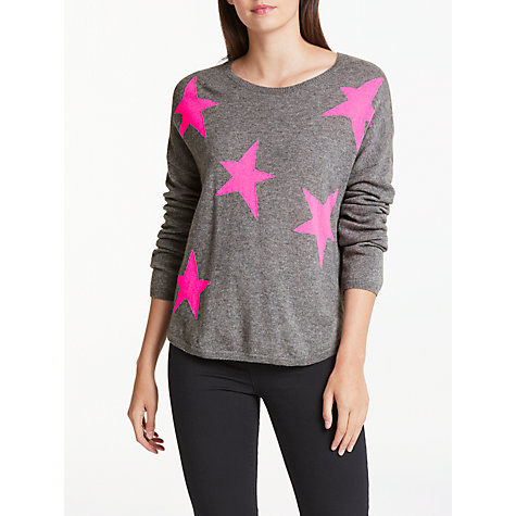 cashmere jumpers buy wyse london maddy large star slouchy cashmere jumper, grey/pink online  at ifwajvq