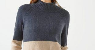 cashmere jumpers colour block cashmere jumper £180 £90 phbieuo