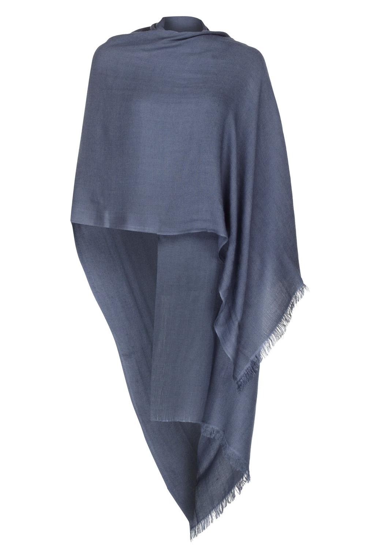 cashmere pashmina slate grey pashmina - 50% cashmere 50% silk sakssgp