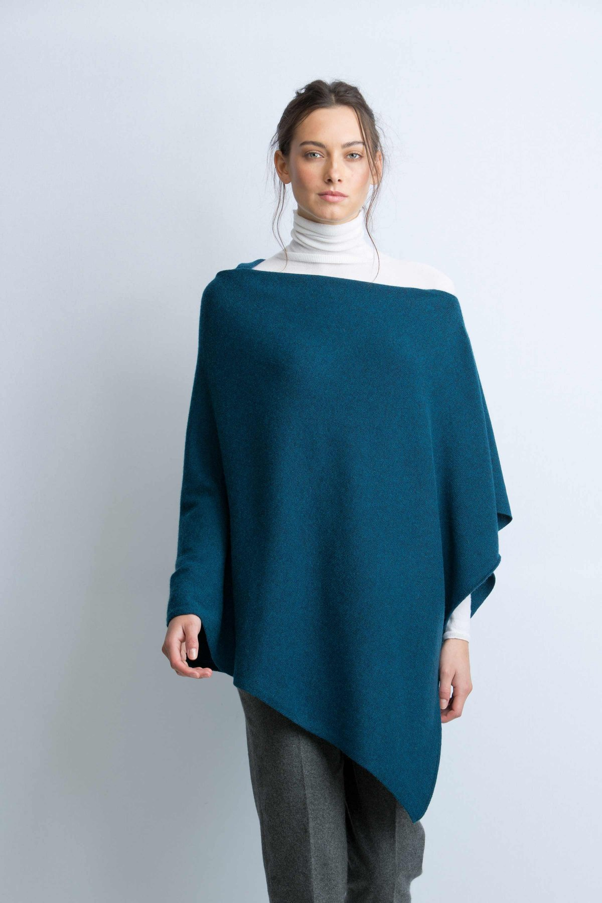 Knitted Poncho For This Winter