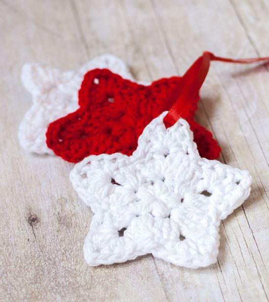 christmas crochet patterns crocheted star homemade christmas ornaments oesqhly
