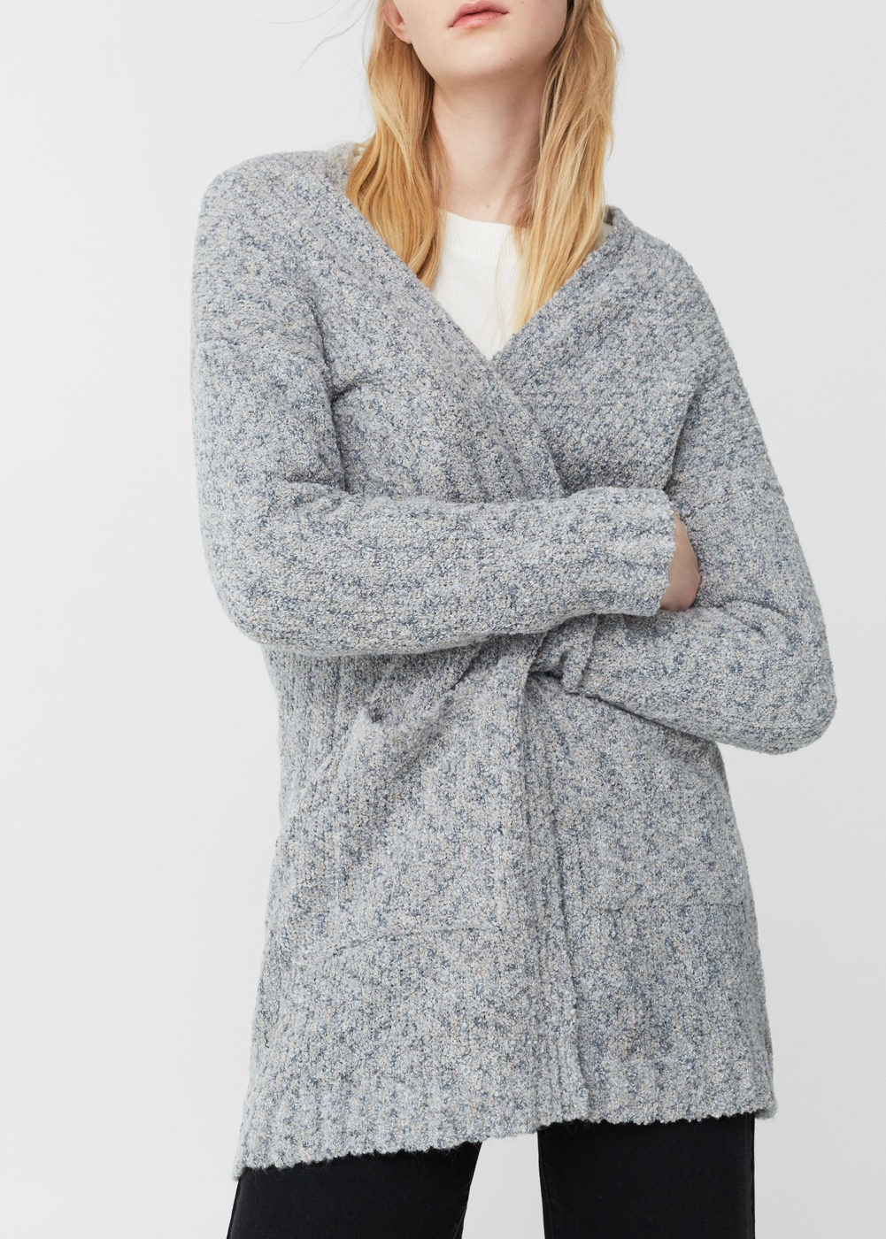 chunky knit cardigan | mango theoqwd