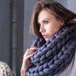 Chunky knit scarf – designer knit scarf