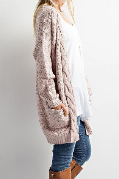 cozy cable knit cardigan sweater - jess lea boutique joneloh