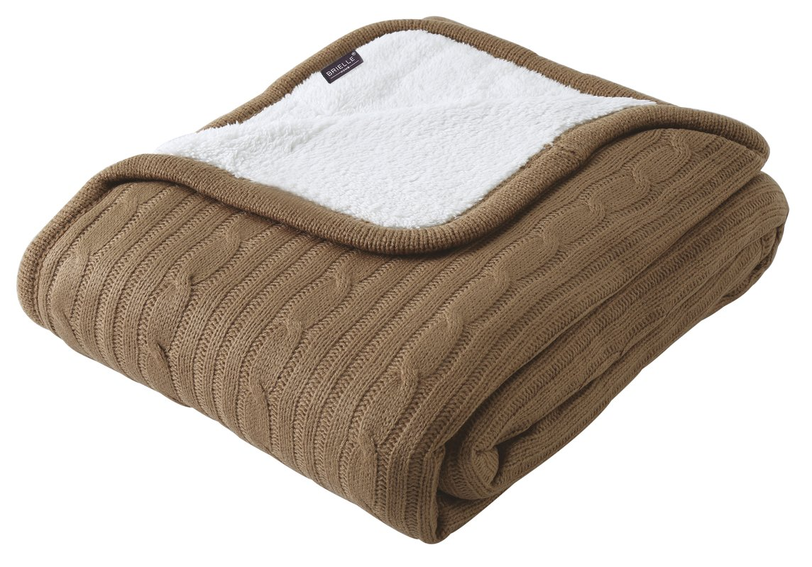 cozy cable knit throw blanket irtqles