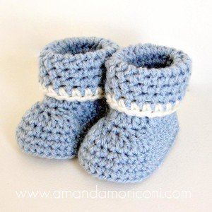cozy cuffs crochet baby booties pattern ... rqhcnap