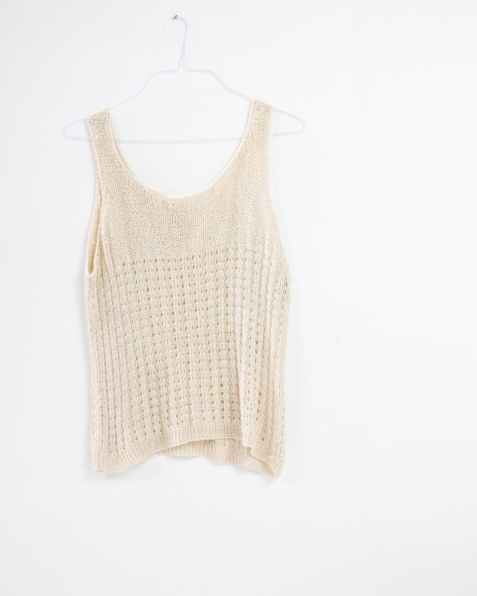 cream crochet tank top tgwjwgv