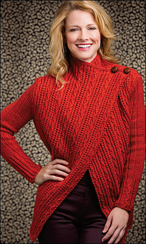creative knitting a touch of luxe cardigan ... nzfcuvq