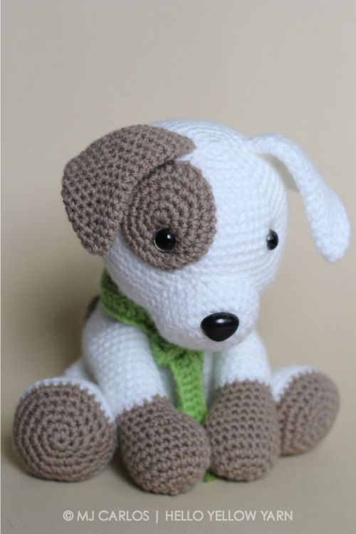 crochet amigurumi puppy dog pattern only jack by helloyellowyarn semqdlh