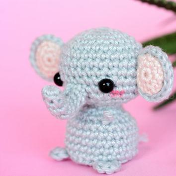 crochet animals amigurumi elephant crochet, mini elephant plush, tiny crochet elephant  plushie, stuffed animal qaxfkmh