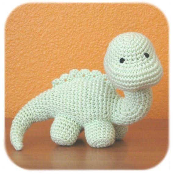 crochet animals dinosaur crochet amigurumi plush in mint green cotton yarn stuffed animal pgjvhra