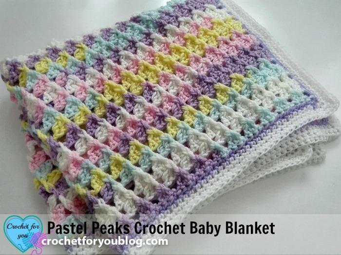 Crochet Baby Blanket Patterns pastel peaks crochet baby blanket free pattern lntlqte