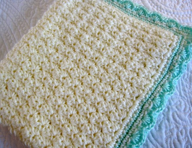 Crochet Baby Blanket Patterns shell stitch crochet baby blanket free pattern kclrulr