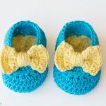 Customize Cute Crochet Baby Booties