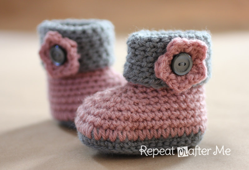 crochet baby booties cuffed crochet booties svsxbnc