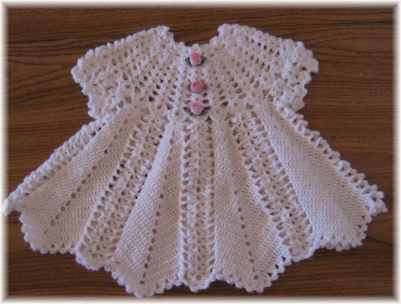 Crochet Baby Dress Pattern crochet pattern for baby dress --- apple blossom baby girl dress yahledc