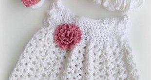 Crochet Baby Dress Pattern free crocheted baby dress patterns eokizrx