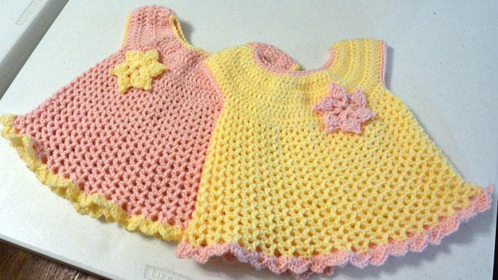 Crochet Baby Dress Pattern little sweetie dresses, crocheted by jeanne pxujsyz
