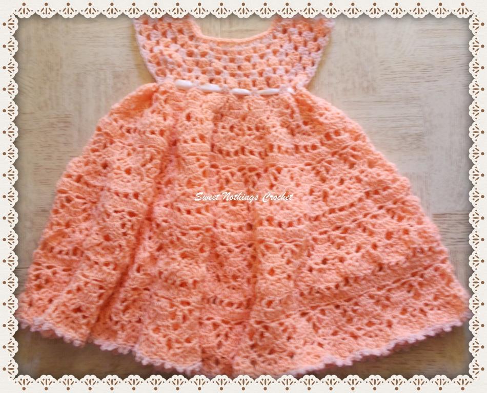 Crochet Baby Dress Pattern lovely shelled girlu0027s dress free crochet pattern eajypxx