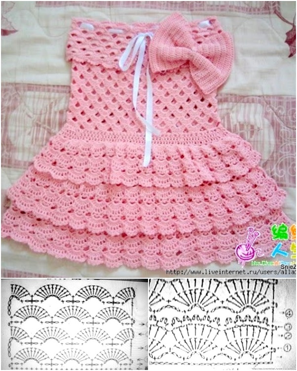 crochet baby dress pink crochet summer dress drtggbo