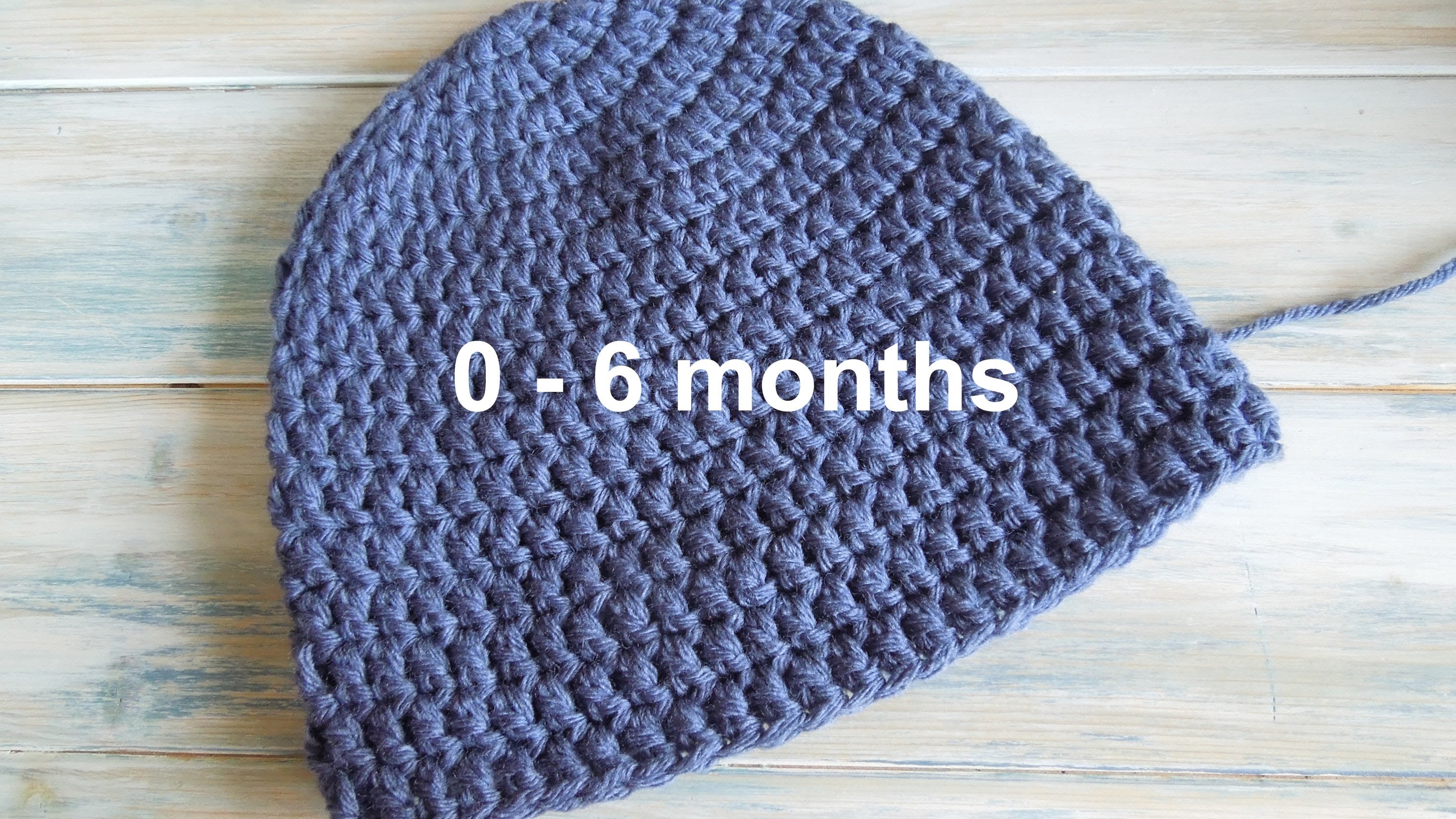 crochet baby hats (crochet) how to - crochet a simple baby beanie for 0-6 months - nfqskbk
