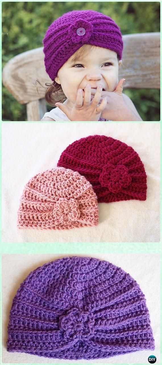 crochet baby hats crochet textured turban free pattern - crochet turban hat free patterns ltatxui