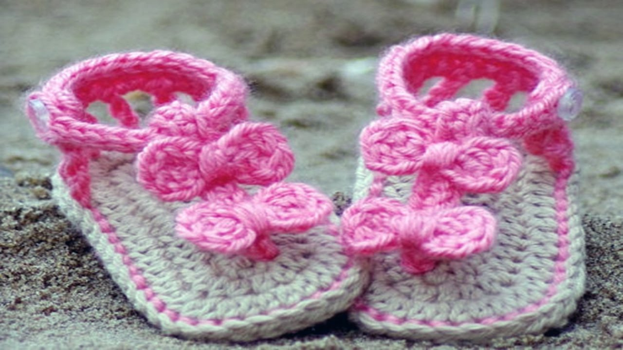 crochet baby shoes, booties and sandals ·▭· · ··· - youtube htylnoq