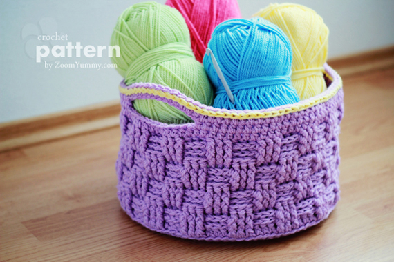 crochet basket pattern crochet pattern - big crochet basket vzqhbuk