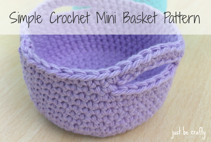 crochet basket pattern simple crochet mini basket pattern - free pattern by just be crafty lgapomq