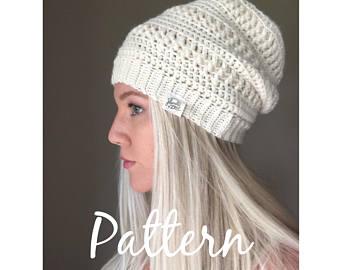 crochet beanie pattern - diana beanie - crochet pattern - pdf digital egfjnes