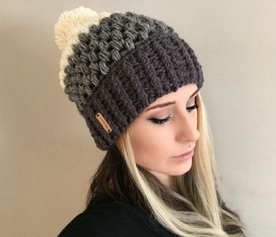 crochet beanie pattern fitted puff stitch beanie pdf file by shopabcrochet urozjiz
