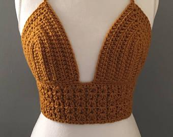crochet bikini top//crochet bralette//crochet festival top nacbhed