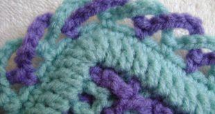 crochet blanket edging interlocking crochet™ - criss-cross edging - youtube tcvbcdb