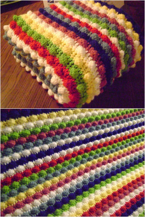 crochet blankets 1. blackberry salad striped afghan lzmavsy