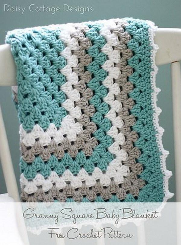 crochet blankets granny square baby blanket yrvpwij