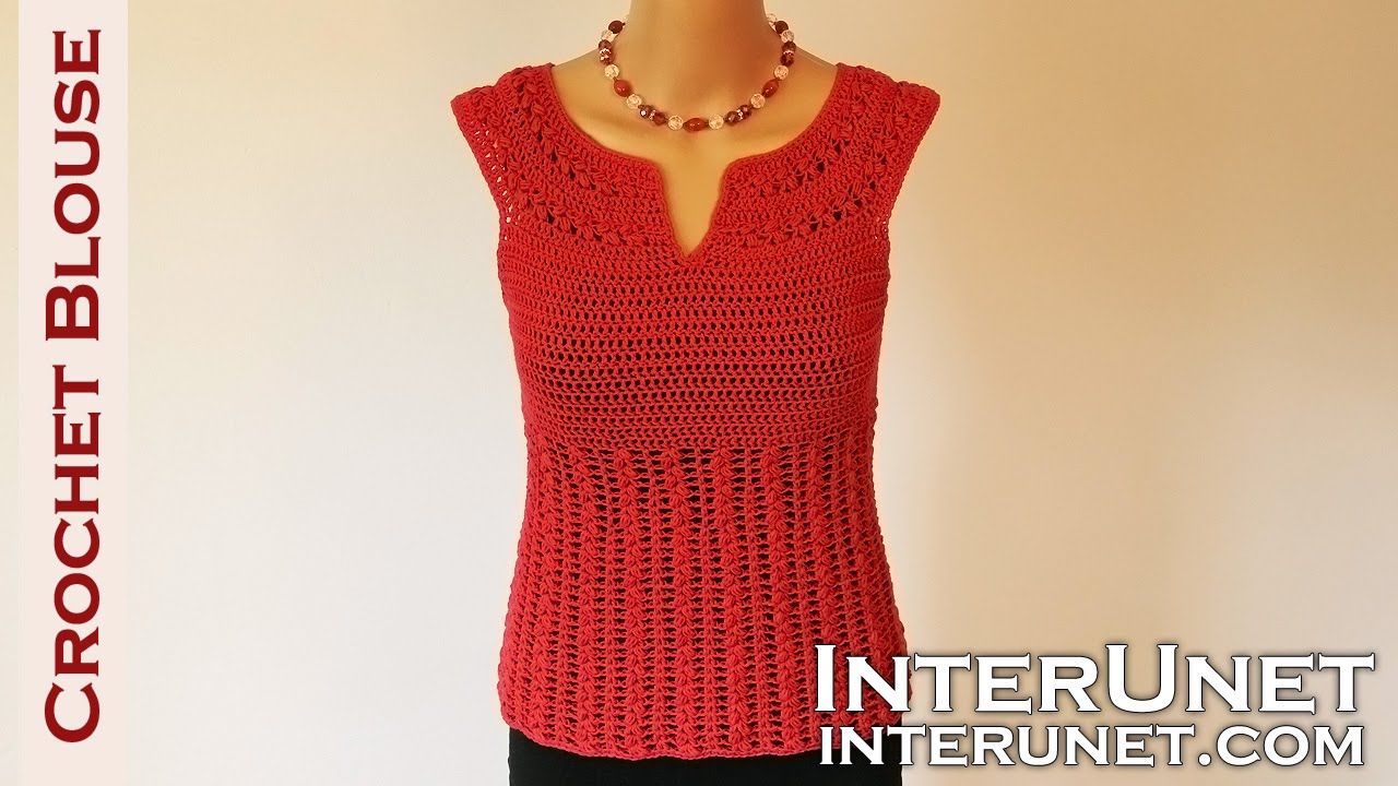crochet blouse - red sage stitch summer top crochet pattern - youtube goapsku