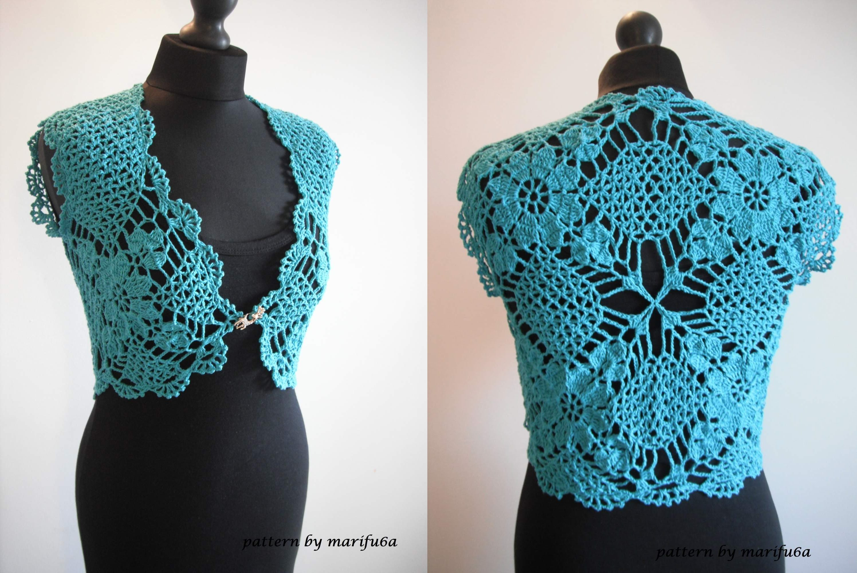 crochet bolero how to crochet mint bolero shrug chaleco free pattern tutorial by marifu6a kfwauef