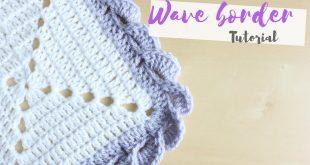 Crochet borders crochet: wave border tutorial | bella coco - youtube ohufpfk