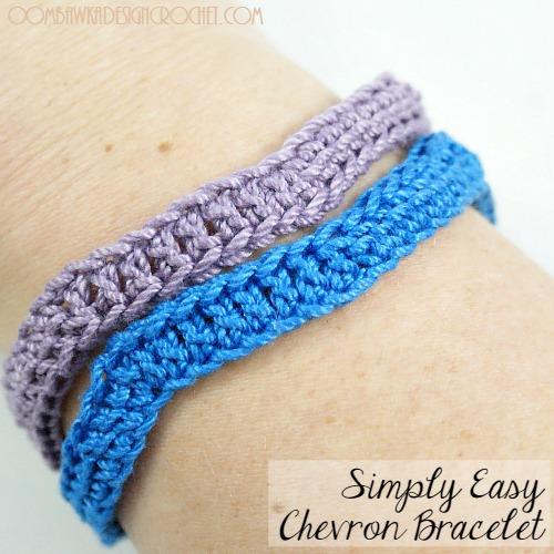 crochet bracelet free pattern simply easy chevron bracelet @oombawkadesign odyomoi