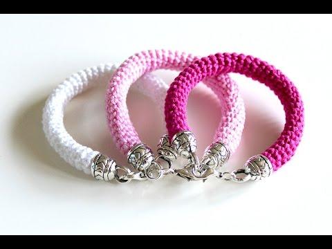 crochet bracelet how to crochet a bracelet - free crochet pattern ordnufw