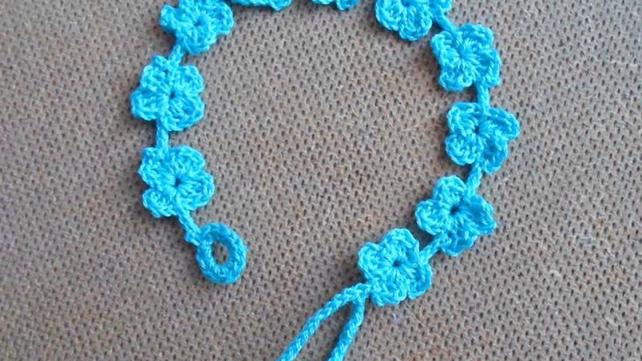 crochet bracelet how to crochet a pretty summer flower bracelet - diy style tutorial - txaktfm