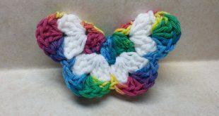 crochet butterfly crochet how to #crochet easy 3d butterfly #tutorial easy crochet tutorial  #136 sdechha
