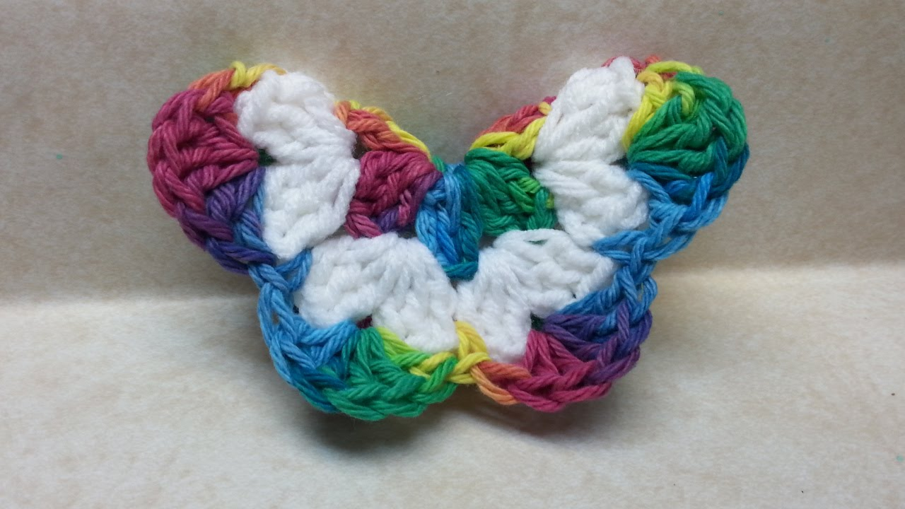 crochet butterfly crochet how to #crochet easy 3d